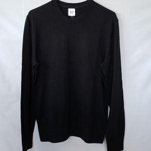 Nwt GAP Black Crew Neck Sweater - Small